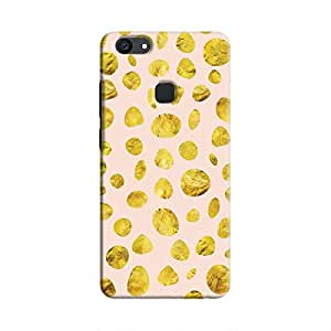 Cover It Up - Pink Gold pebbles V7 Plus Hard case