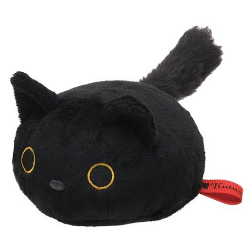 Muñeco peluche gato negro redondo Kutusita Nyanko: Amazon.es: Electrónica