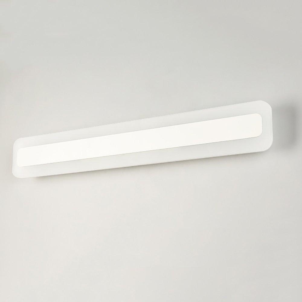 LJHA jingqiandeng アクリルクリエイティブラウンドコーナーミラーフロントライトウォールランプシンプルな防水バスルームの寝室LEDミラーフロントライト (色 : 白色光, サイズ さいず : 120CM) B07L3NWR56 40CM|3色調光 3色調光 40CM