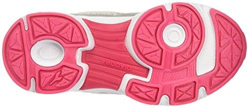 Diadora 101.171269, Zapatillas con Velcro Infantil Multicolor (Argento Dd/Rosso Flame)