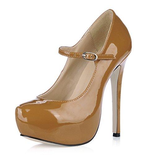 Zapatos Y Violet Mayor Sexy Agua Aumento Fine Para Discotecas Talón Escritorio Alto Pearl Temperamento La Resorte De El Deep Tnz4wxY6qw