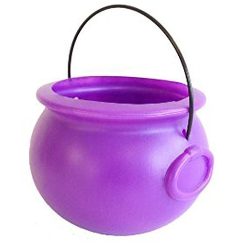 Punch Bowl Halloween Costumes (Halloween Cauldron 8 Inch Purple Plastic