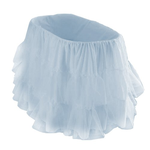 bkb Bassinet Petticoat, Light Blue, 13'' x 29'' by bkb