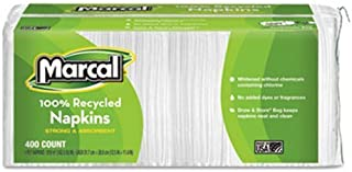 product image for Marcal Premium Luncheon Napkins,12-1/2 x 11-2/5, White - Includes six packs of 400 each.