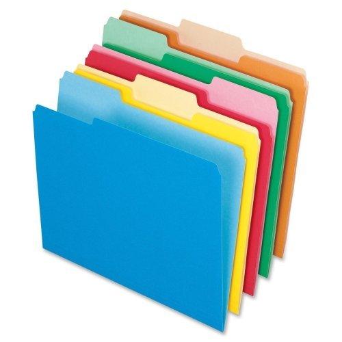 Pendaflex 15213ASST File Folder, AST 1/3 Tab Cut, Letter-Size, 100/BX, Assorted ()