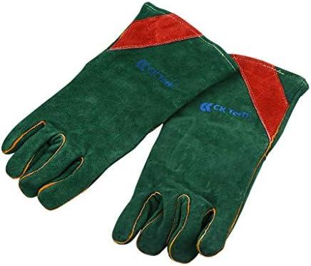 手袋 電気溶接のガス溶接の革手袋の高温絶縁材の耐熱性手袋/緑 LMMSP