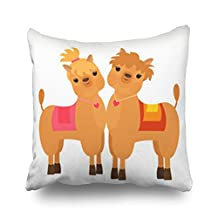 Cute Alpaca Llama Animal Llamas Texture Throw Pillows Custom Home Decorative Sofa Square Pillowcase 18x18 inches Two Sides Cushion Covers Zippered Design