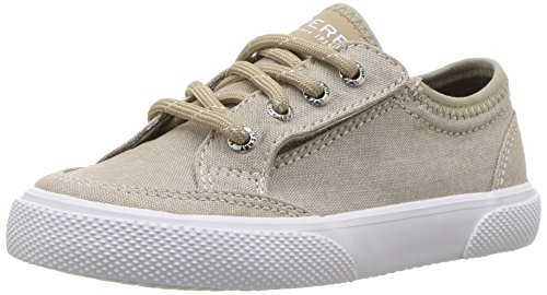 Sperry Deckfin A/C Sneaker (Toddler/Little Kid), Beige, 6 M US Toddler