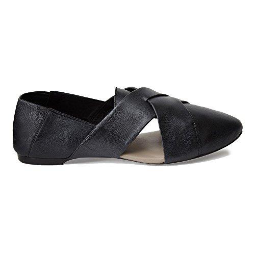 Shoes Hackney Pumps Foldable Ballet Charcoal Leather Ladies Cocorose 8qUwv5F