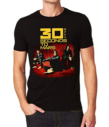 30 Thirty Seconds to Mars 30Stm Men's T-Shirt Medium Black