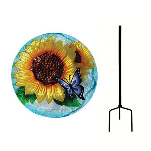 Songbird Essentials Blooming Sunflower Staked Birdbath