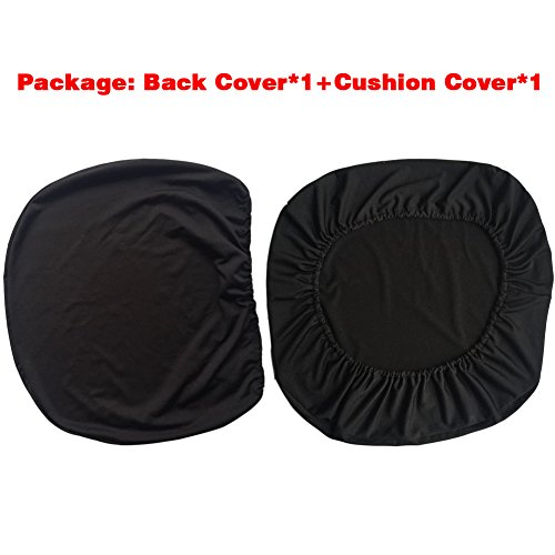 Loghot Chair Covers Spandex Universal Computer Office Desk Stretch Rotating Pure Color Chair Cover (Black) Photo #3