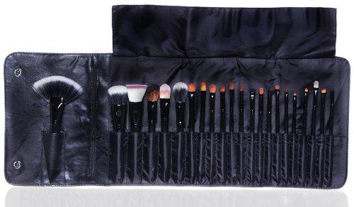 Qualité Premium 22pc Makeup Artist Maquillage Brush Set / Kit avec étui de luxe par Cheeky Cosmétique - Pinceaux De Chèvre / Animal et les cheveux synthétiques pour l'ombre à paupières, blush, Correcteur, Eye-liner et plus ...