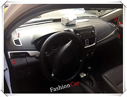 For Toyota Vios 2014 2015 2016 2017 (Sedan) Left hand drive Interior Instrument vents Cover Trim 4pcs/set Car Accessories ()