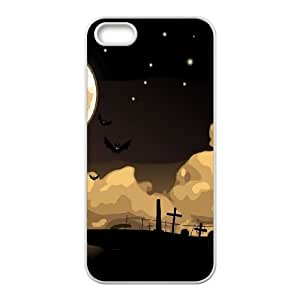 Halloween Night Cemetery Bats iPhone 4 4s Cell Phone Case White DIY GIFT pp001_8972328
