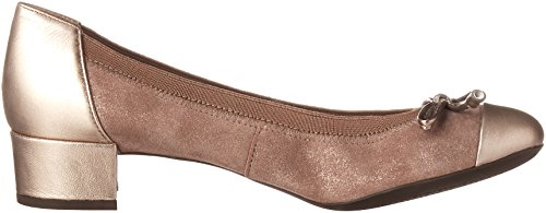 Geox Damen D Carey A Pumps Beige (OLD ROSE/CHAMPAGNECA8B5)