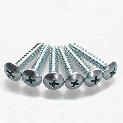 Size: M5x30mm 50pccs Screw M5 Phillips Drywall Screw Truss Screws Self-Tapping Bolts Phillips Slot Full Thread Mushroom Head