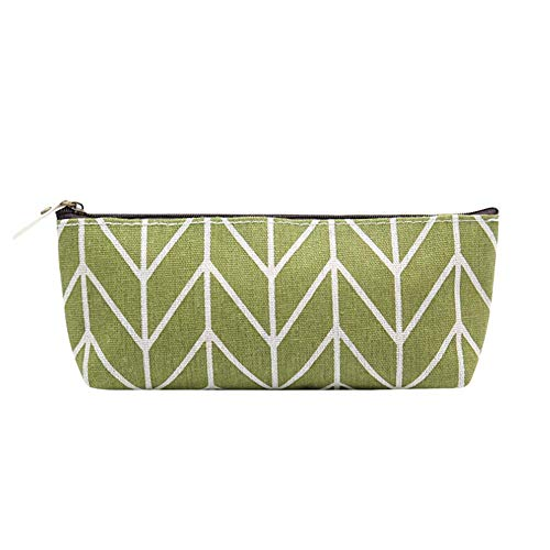 Price comparison product image Hot Sale!DEESEE(TM)Pencil Pen Case Cosmetic Makeup Bag Storage Pouch Purse Students School (Army green)