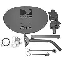 DIRECTV Five LNB Ka/Ku Slim Line Dish Antenna w/ Long and Short Brace for HD Programming (SLSP-F)