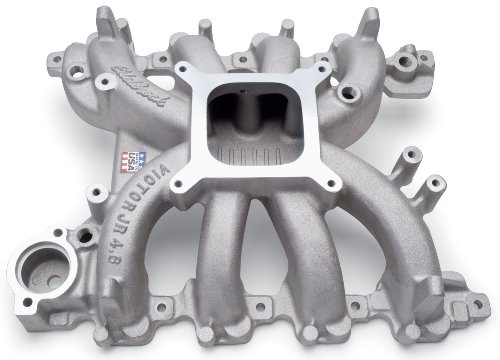 Edelbrock 2839 Victor Jr. Ford 4.6L SOHC Intake Manifold; 3500-7500rpm; For Carubretor; 99-04 Ford 4.6L SOHC Modular; w/Electronics; Racing Use Only;