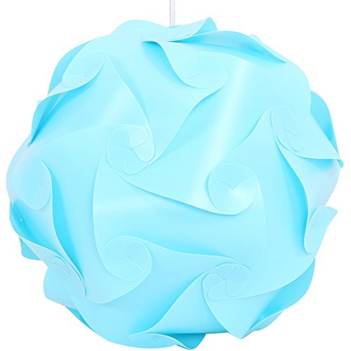 (Lightingsky IQ Lamp Shade Toy Self DIY Assembled Puzzle Lights for Room Decoration (Sky, L-12 inch))