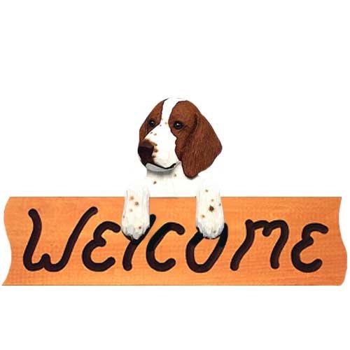 Michael Park Welsh Springer Spaniel Welcome Sign Maple