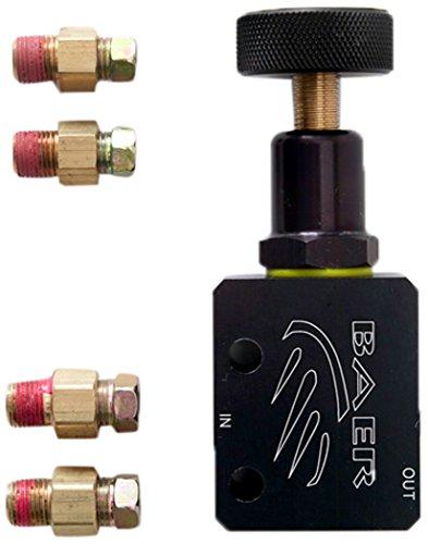 BAER BRAKES 6600393-BKCZ Valve Bracket (Adjustable Proportioning Side Mount), 1 Pack Adjustable Brake Proportioning Valve