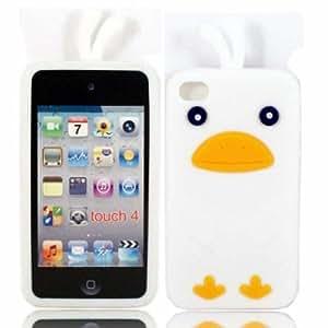 Chicken Silicona Cubrir Caso Piel Para Apple iPod Touch 4 4th Generation / White