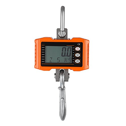 Mophorn Crane Scale 1000KG(2000LBS) Digital Hanging Scale Industrial Heavy Duty Crane Scale with Accurate Reloading Spring Sensor for Hunting, Farm or Construction (Digital Scales Hanging)