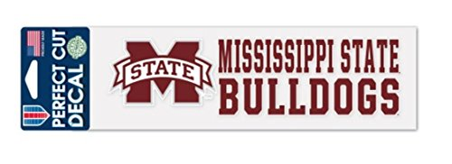 Mississippi State Bulldogs Window (NCAA Mississippi State University Bulldogs 3x10 inch Perfect Cut Decal)