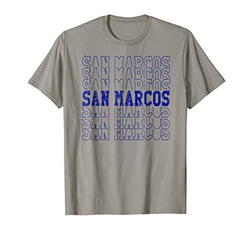 Trendy Retro San Marcos CA Distressed T-Shirt -