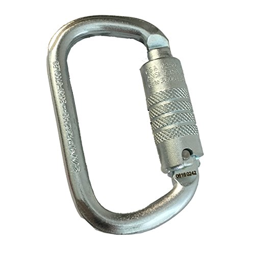 CAMP ANSI OVAL 3LOCK Steel Carabiner 30kN ANSI Certfied 3600lbs Gate by Camp