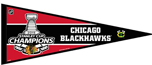 Chicago Blackhawks Official NHL 30 inch 2015 Stanley Cup Champions Pennant by Wincraft