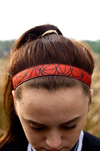 Glitter Basketball Headband Girls, Basketball Team Headbands, Choice of size & pattern