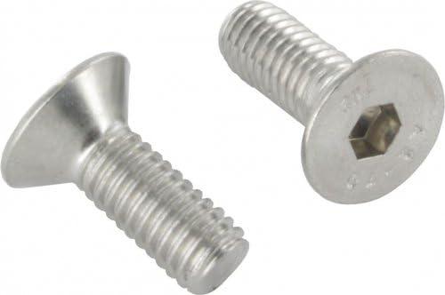 Schwarz - 8mm // M8 x 16 mm Materialfarbe Bolt Base DIN 7991-100 St/ück Senkkopfschraube mit Innensechskant Hochfest 10.9