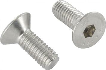 Senkschrauben mit Innensechskant und Vollgewinde 10 Senkkopfschrauben Edelstahl M6 x 12 mm ISO 10642 // DIN 7991 VA // V2A Werkstoff A2