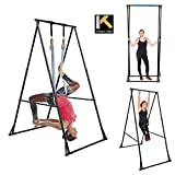 KT Aerial Yoga Stand Frame Indoor Outdoor KT1.1518. Max Height 92.5''. Foldable, Portable, Height Adjustable, Stable and Durable Yoga Swing Stand Frame