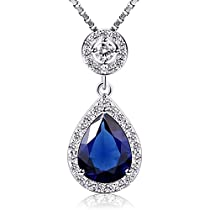 B.Catcher Crystals Heart of Ocean Love Necklaces & Pendants Jewelry Mothers Day Gift 18+2inch
