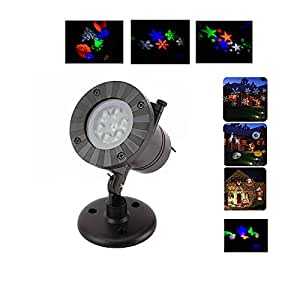 Christmas Light Projector LED with 12 Switchable Patterns Outdoor Waterproof Spotlight Night Light for Christmas Halloween Holiday Landscape Decoration