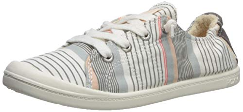 Roxy Women's Rory Fashion Sneaker Shoe, Multi Stripe, 7 M US