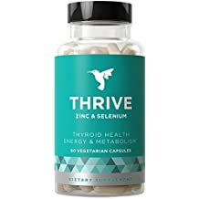 Thrive Thyroid Support & Energy Metabolism - Natural Relief & Fast-Acting Strength to Fight Fatigue, Balance Hormones, Promote Focused Energy - Zinc, Selenium, Iodine - 60 Vegetarian Soft Capsules