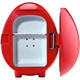 SMAD Beverage Warmer Cooler Mini Portable Food Warmer for Office,Red