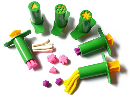 (3pc Heart /Flower Syringes Playdough Fimo Polymer Clay Intelligent Plasticine Tool Molds Kids Toys Clay Polymer Toy Resin Molds)