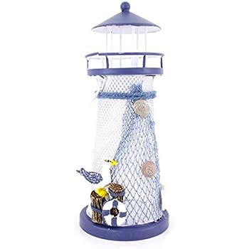 "7.4"" High Nautical Lighthouse Tea Light Candle Holder"