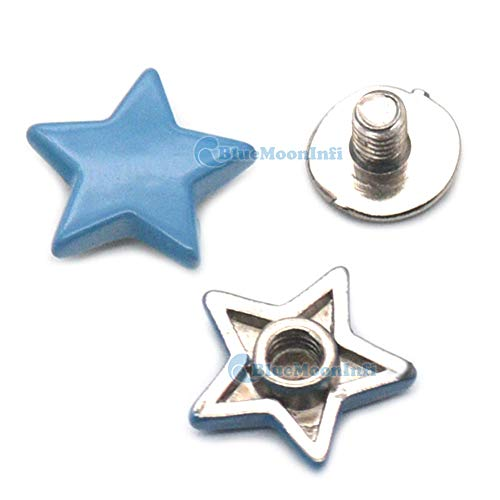 Leather Rivets Set 5/15/50/120 Sets Alloy Star Shape Rivet Stud Button Screw Bag Clothes Shoe Punk DIY Fittings Leather Craft by X-CRAFT (Image #4)