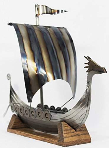 Norwegian Viking Ship Display Art