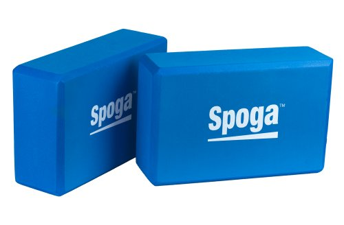 Spoga Premium Quality Yoga Blocks (Set of 2), Dark Blue, 9' x 6' x 3'