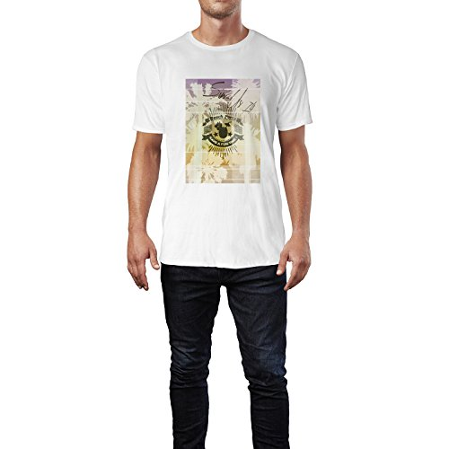 SINUS ART® Beach Party – Have A Fun Time Herren T-Shirts in Weiss Fun Shirt mit tollen Aufdruck