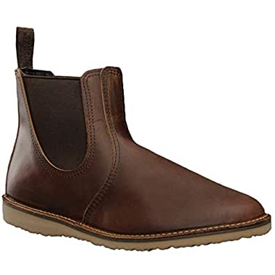 c49fc0f3a9a5 Image Unavailable. Image not available for. Color  Red Wing Heritage Men s Weekender  Chelsea ...