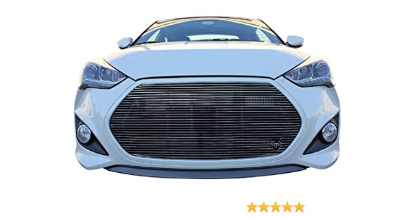 Fits 2013-2016 Hyundai Veloster Turbo 1PC Chrome Polished Replacement Billet Grille Insert Kit: Automotive